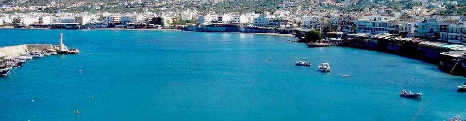 panorama of chersonissos beach